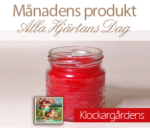 Klockargrdens - Alla Hjrtans Dag - Doftljus